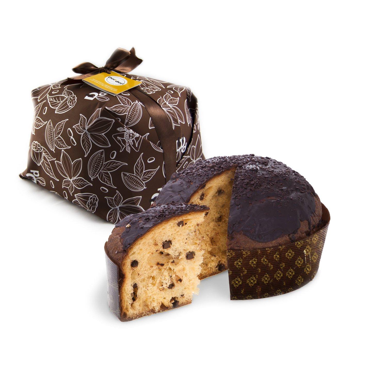 500 gr de panettone elaborado con gotas de chocolate siciliano - Duci duci - pastelería artesanal, panettone con gotas de artesanía de chocolate siciliana ...