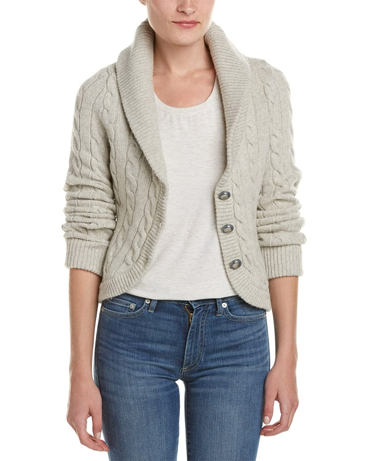 Free People Womens Cable Knit Cardigan Sweater