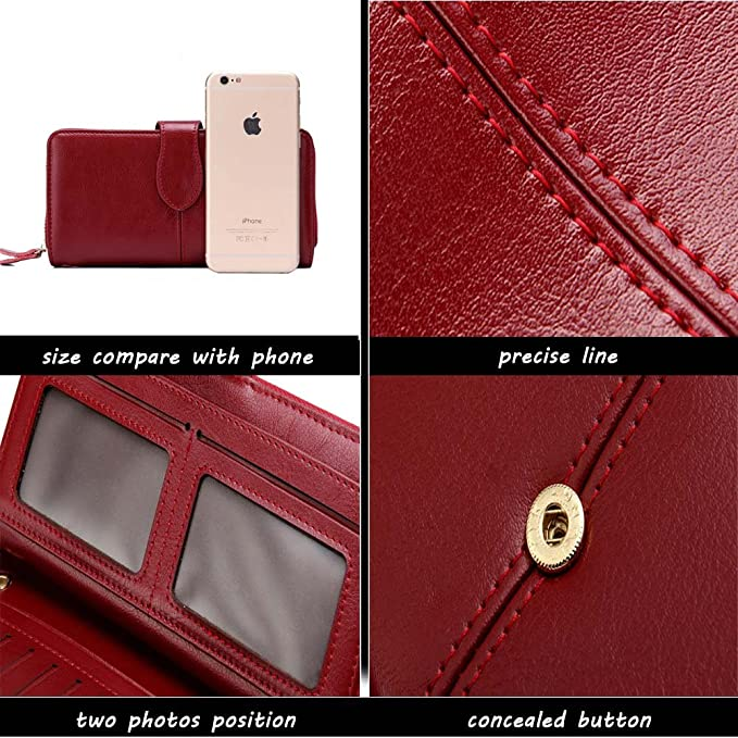Yoboko Women Soft Genuine Leather Water Proof Rfid Card Case ...