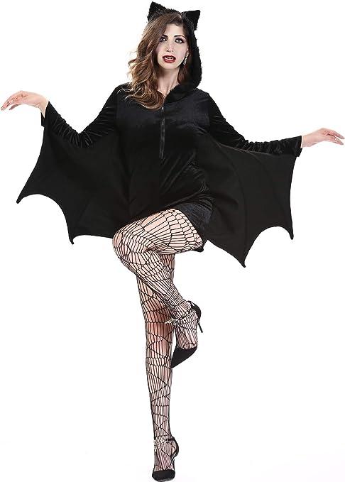 Boao Disfraz de murciélago de Halloween Disfraz de murciélago ...