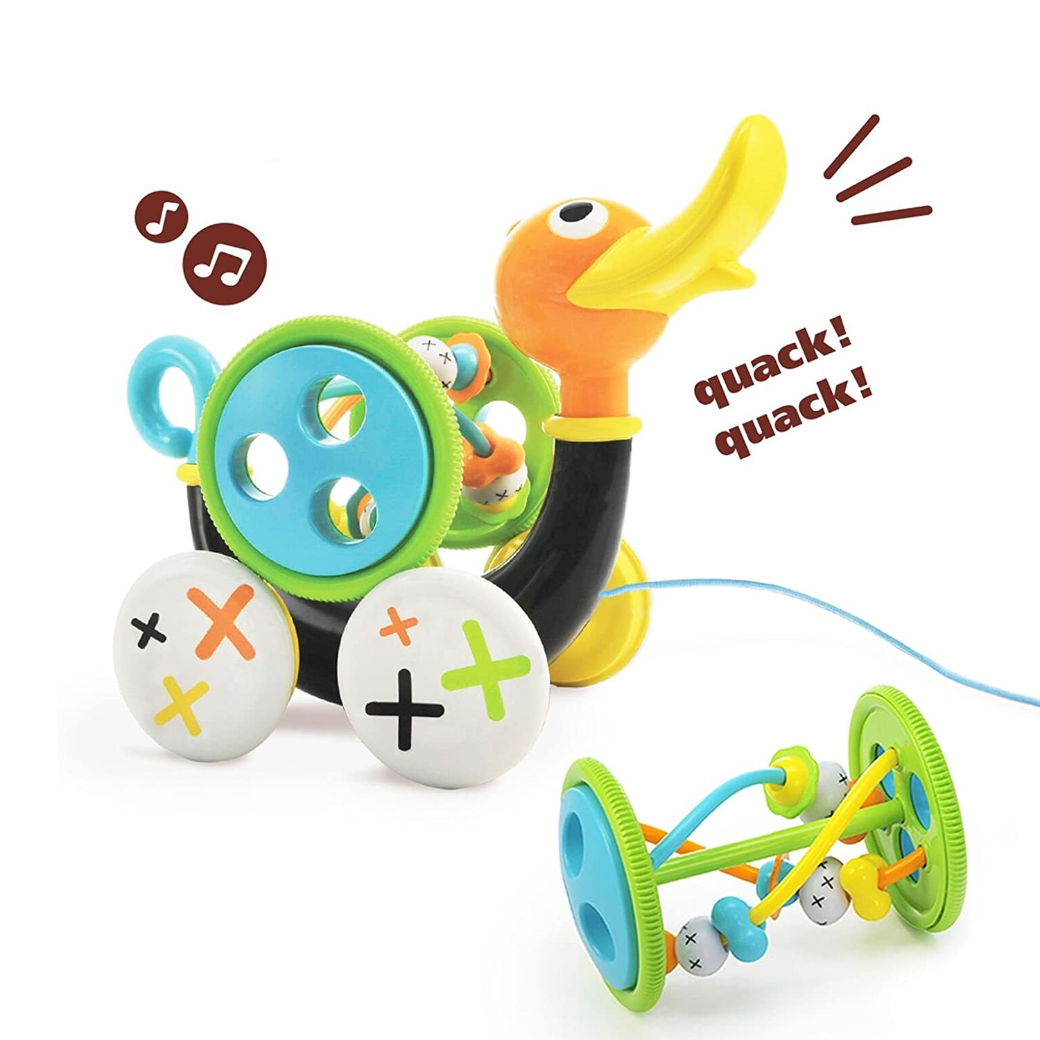Amazon Pull Toy Pull Along Duck Whistles As Toddlers Pull
