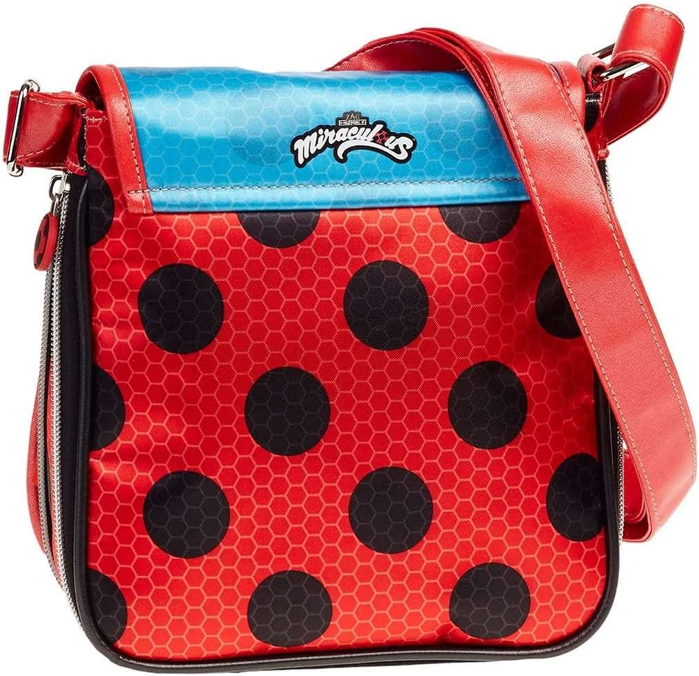 Rouge Karactermania Ladybug Marinette Sac bandouli/ère 22 cm Rojo