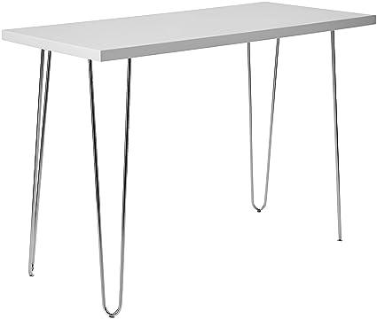 Pleasant Walker Edison 42 Hairpin Leg Wood Writing Desk White Interior Design Ideas Skatsoteloinfo
