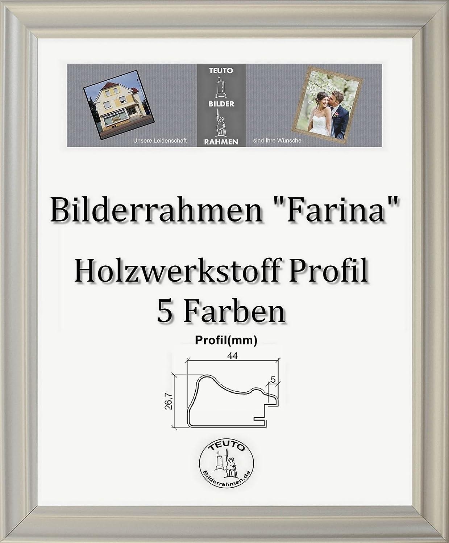 Farina Barock Barock Barock Bilderrahmen 69 x 97 cm Farbe und Verglasung wählbar 97 x 69 cm Hier  Silber matt mit Acrylglas Antireflex 1 mm 5ebb74