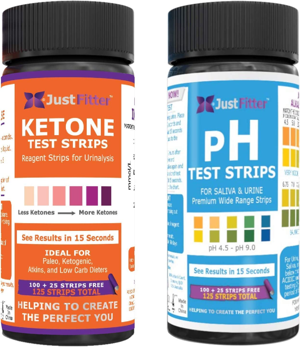 Ketone and pH Test Strips. Get to Keto Faster and Safer by Pairing Up Your Low Carb Ketogenic or HCG Diet with a Balanced pH. Accurately Measure Your Fat Burning Ketosis and Alkaline or Acid Levels.