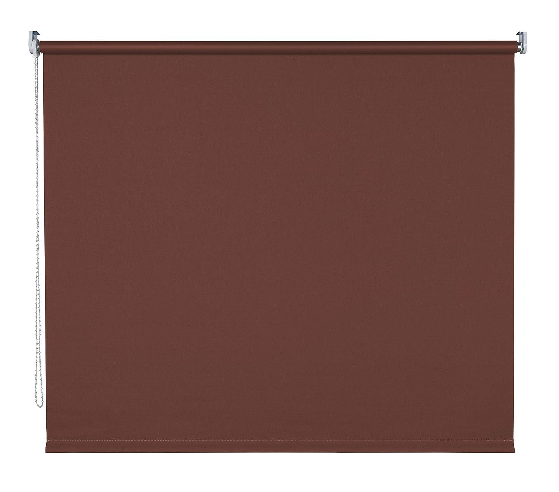 Verdunklungsrollo Fenster Tür Rollo Farbwahl Kettenzugrollo Seitenzugrollo Breite 60 - 200 cm Höhe 180 cm u. 240 cm Stoff lichtundurchlässig Metall Klemmhalter ohne Bohren (200 x 180 cm   Braun) B078ZQ9XPX Seitenzug- & Springrollos