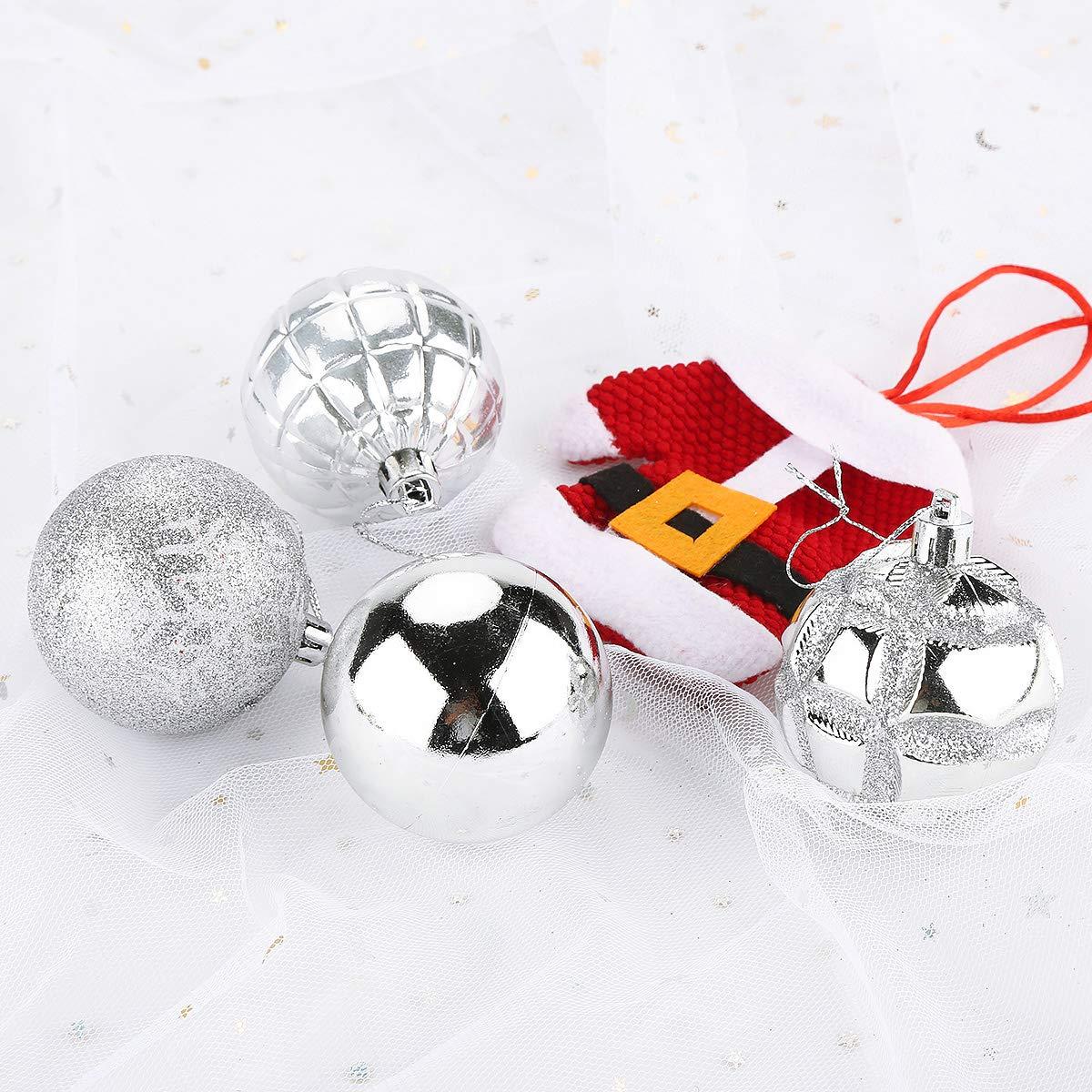 Aitsite Christbaumkugeln Weihnachtskugeln 6CM//4 cm//2 cm Wandbehang Ornamente Weihnachtsbaum Kugeln Flitter T/ür Dekorationen Festival Dekore