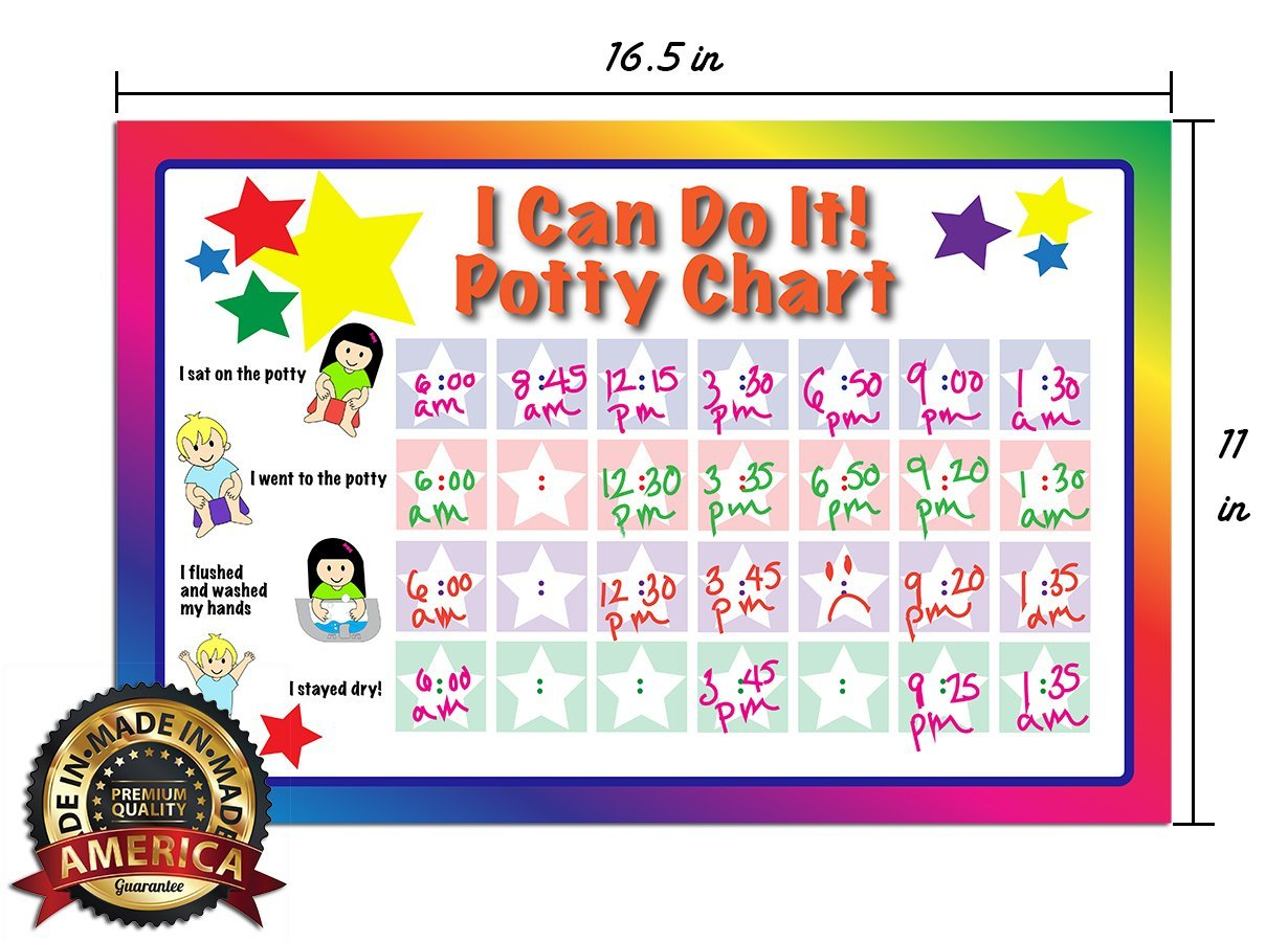 amazon com potty training chart potty chart bathroom chart amazon com potty training chart potty chart bathroom chart i can do it dry erase vinyl decal sticker classroom home teaching resource