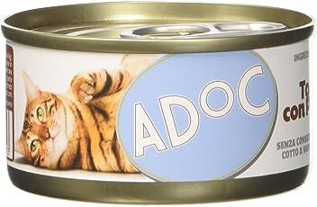 ADOC Naturale Tonnetto con Prosciutto per gatti adulti, confezione da 24 pezzi