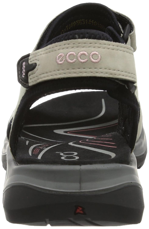 ECCO Women's Yucatan Sandal B000ZI9KKS 41 EU (US Women's 10-10.5 M)|Atmosphere/Ice White/Black