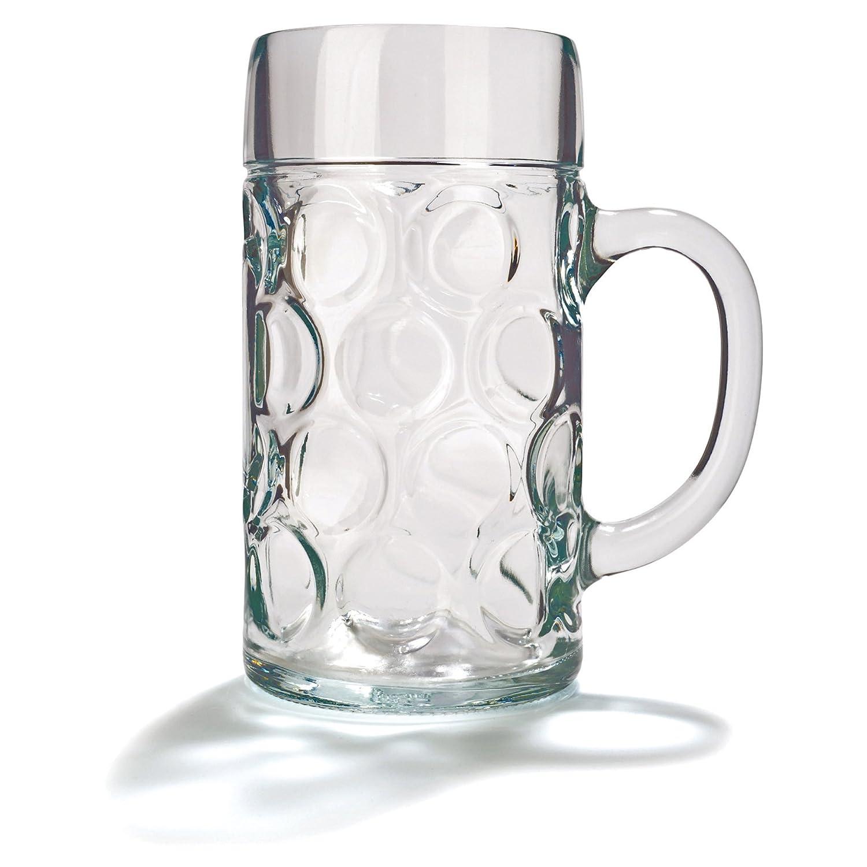 alemán cerveza Stein de cristal 2pinta | Classic jarras de cerveza, tazas de cerveza, cerveza Steins | jarras de cerveza de cristal 2pinta