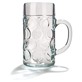 alemán cerveza Stein de cristal 2 pinta | Classic jarras de cerveza, tazas de cerveza, cerveza Steins | jarras de cerveza de cristal 2 pinta: Amazon.es: Industria, empresas y ciencia