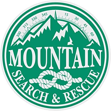 Search /& Rescue Title Reflective Decal Sticker Helmet Window Green Color