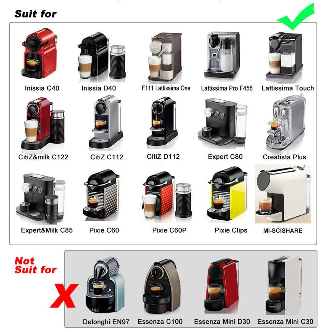 iSuperb 3pcs Rechargeables Capsules Caf/é Capsule Filtre de Caf/é Compatible avec les machines dorigine Nespresso R/éutilisables Plastic Coffee Capsules Vert + Jaune + Blanc
