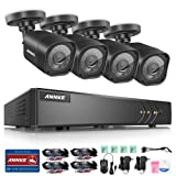 ANNKE CCTV Camera Systems Smart HD 1080P Lite 8+2 Channels DVR Recorder w/ 4x 720P HD Outdoor Bullet Camera, All-weather Adaptation, Email Alert with Images, NO HDD
