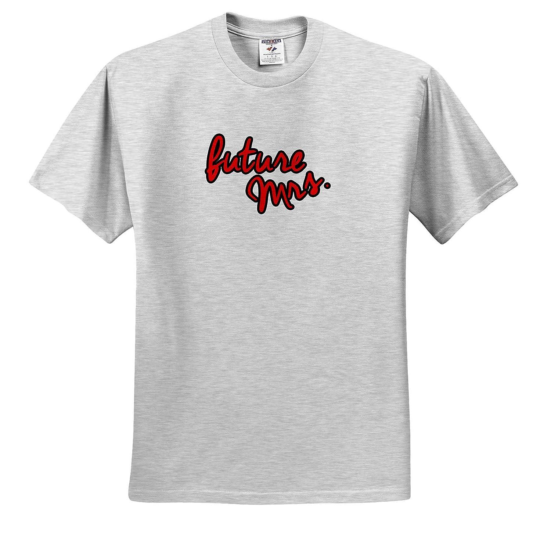 Love Sayings ts/_321029 3dRose EvaDane Future Mrs Red Adult T-Shirt XL