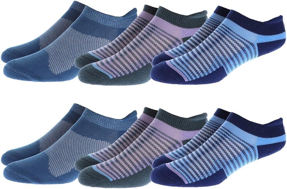 ASICS Women's Cushion Low Cut Socks Bundle (6 Pairs)