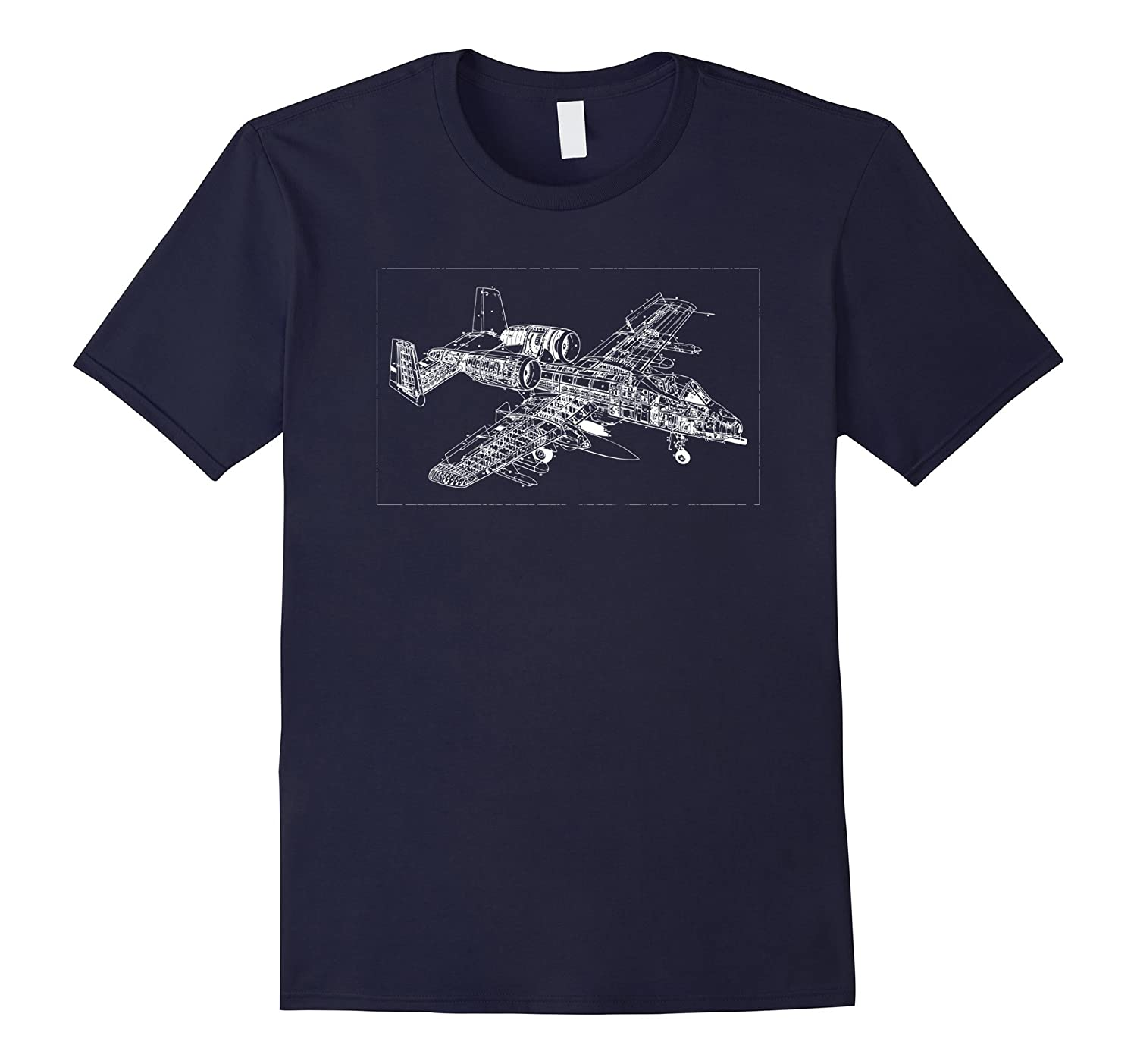 A-10 Warthog attack jet blueprint t-shirt-T-Shirt