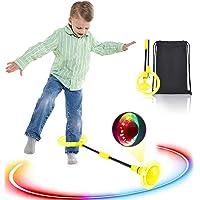 Boyigog Bola de Salto de Tobillo, LED Swing Bolas, Balones Saltadores, Aro de Salto Luminoso Plegable Apto para Que…