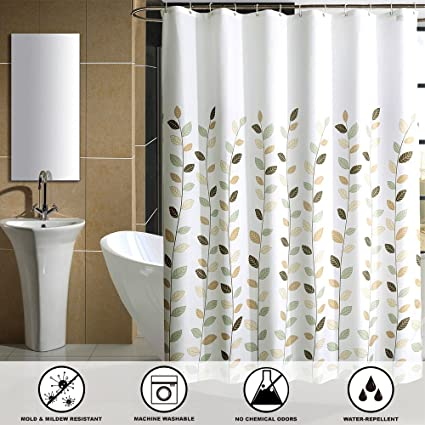 Nice SHU UFANRO Mildew Resistant Shower Curtain Waterproof Thickened Polyester  Bathroom Eco Friendly Shower Curtain Liner