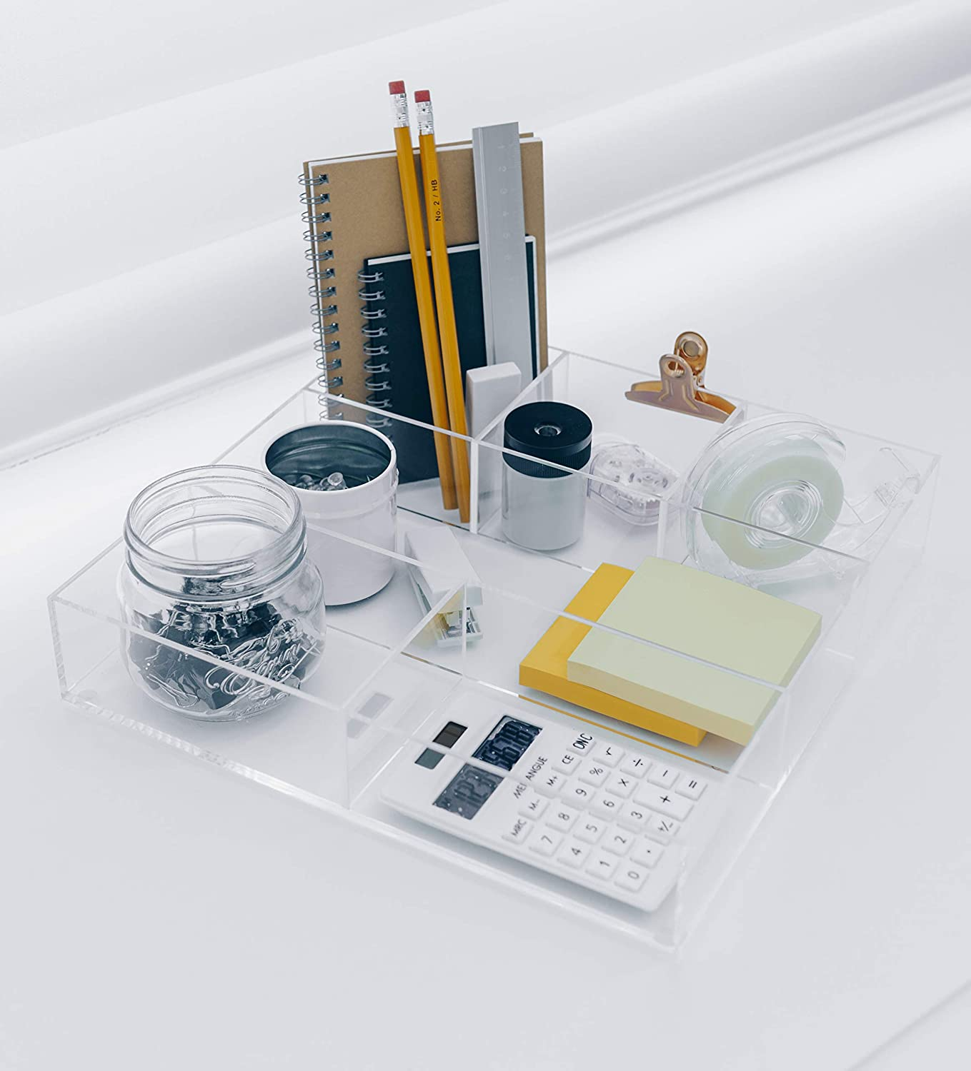 Clear Anti-Slide Acrylic Organizer with Removable Dividers