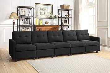 Amazon Com Bridge Modular Sectional Sofa Assemble 5 Piece Modular
