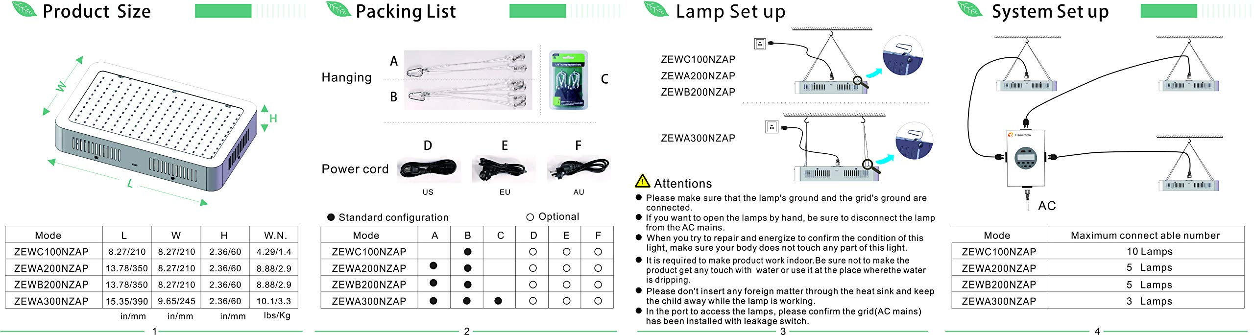 LED Grow Light 2000W, Vander Full Spectrum Led Light Hanging Lamp for Greenhouse Hydroponic Indoor Plants Growing Vegetables and Flowers by Apelila Semper