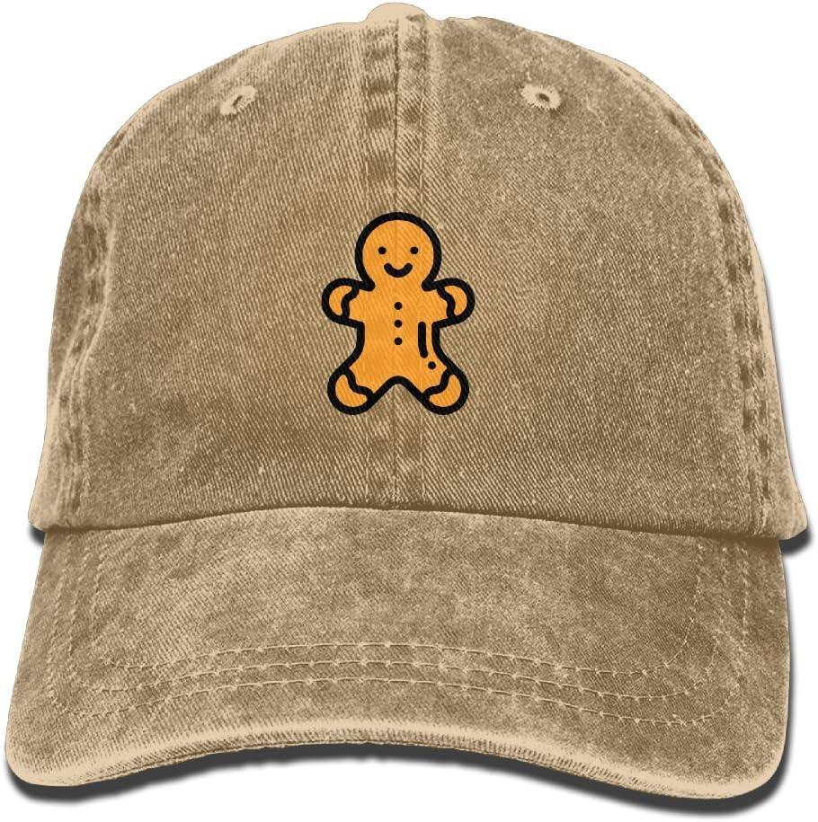 Sonafoam Adult Gingerbread Man Sports Adjustable Structured Baseball Cowboy Hat