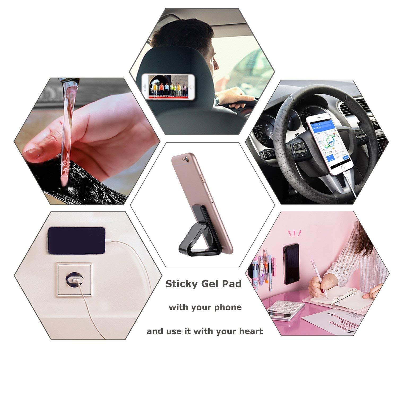 Hbitsae Fixate Multi Purpose Nano Sticky Gel Pads,for Cell Phone Holder Dashboard Anti Slip Pad GPS Car Mat Phone Tablet (Black 5)