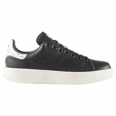 Adidas Originals Womens Stan Smith Bold zapatillas negras Plataforma cuero para Mujer zake (38 2