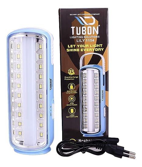 TUBON Plastic LED Lantern, Light Blue