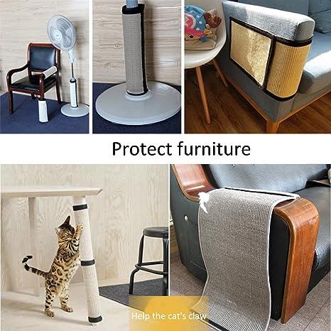 Rascador para uñas de gatos, protector de columnas y patas de mesas, sin necesidad