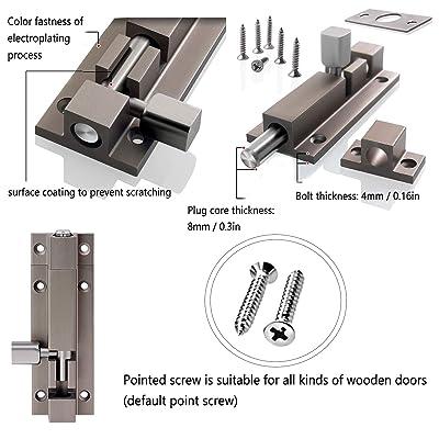 Zhi Jin 1Pc Thick Slide Barrel Door Bolt Latch Heavy Duty Gate Lock Security