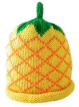 Merry Berries Pineapple Knitted Baby Hat 12-24 months (4)  Amazon.co.uk   Clothing eccdc647370