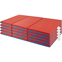 "ECR4Kids 3-Fold Rest Mats, 48 x 24 x 1"" (5-Pack), Blue/Red"