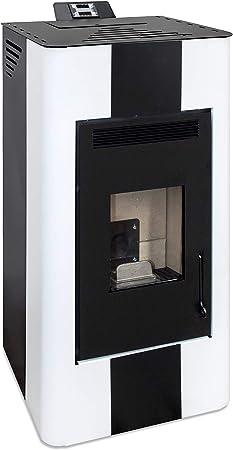 Eider Biomasa Esc670 8 Estufa De Pellet Energy Fire 15 Kw Blanco Y Negro Amazon Es Bricolaje Y Herramientas