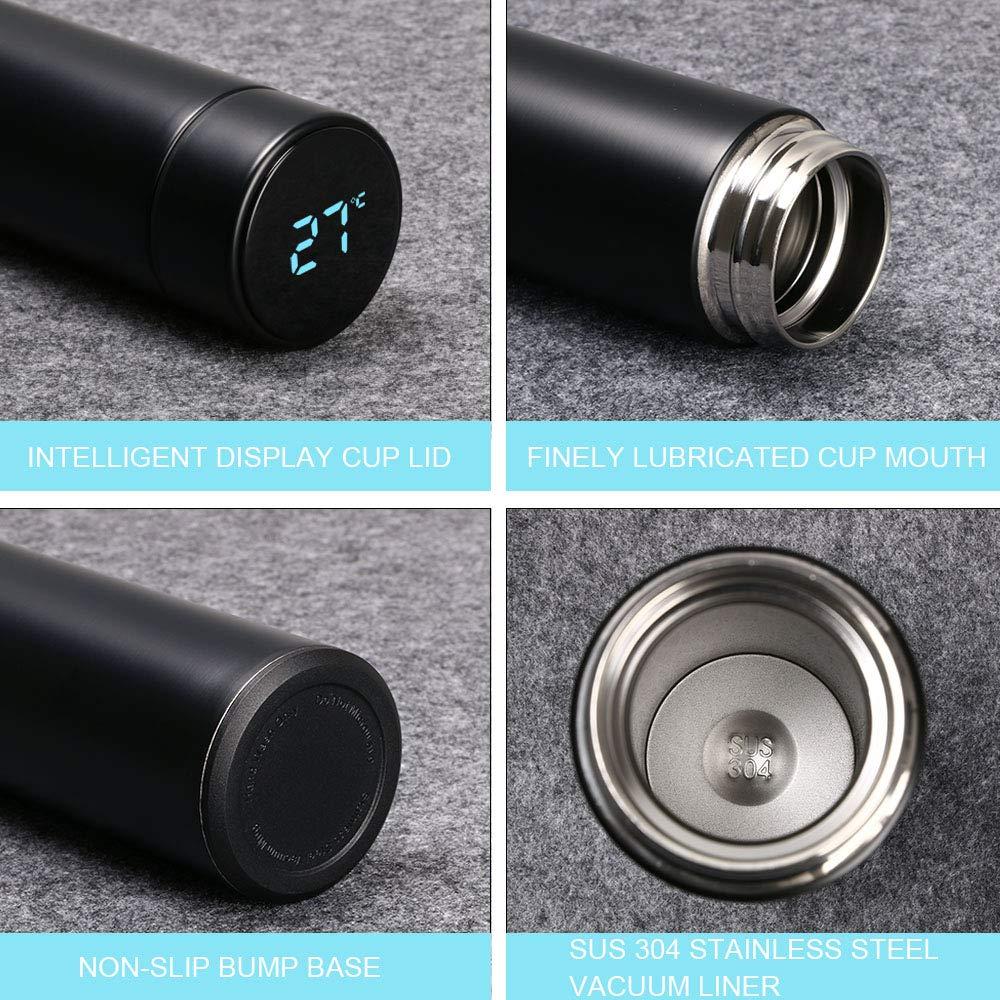 500ML Coppa da Viaggio Tazza Intelligente LCD Temperatura Display Touch flintronic/® Borraccia Termica Boccetta per Vuoto in Acciaio Inossidabile per Stare al Caldo