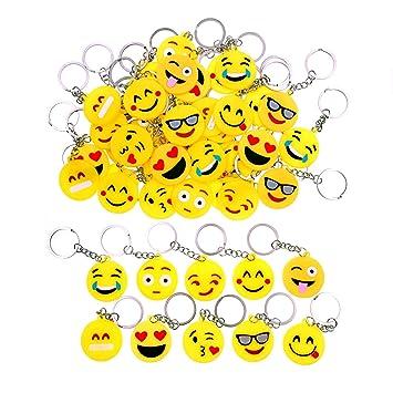 JZK 50 x Llavero Emoji llaveritos Emoticon Colgante decoración Bolsos Mochilas y Llaves regalitos Regalo Fiesta cumpleaños Navidad favores Boda para ...