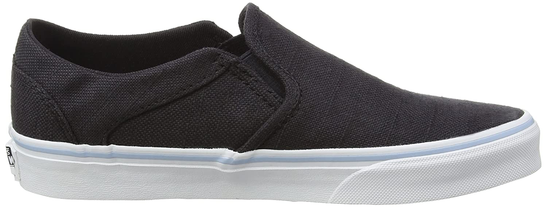Vans Asher, Damen Sneakers, Blau (Hemp/Navy/Floral), 39 EU