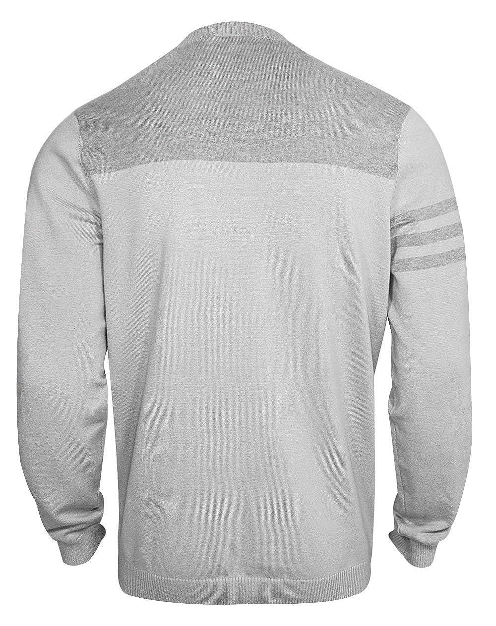b717d3d35 Amazon.com: adidas Golf Men's Adi 3 Stripe Crewneck Sweater: Clothing