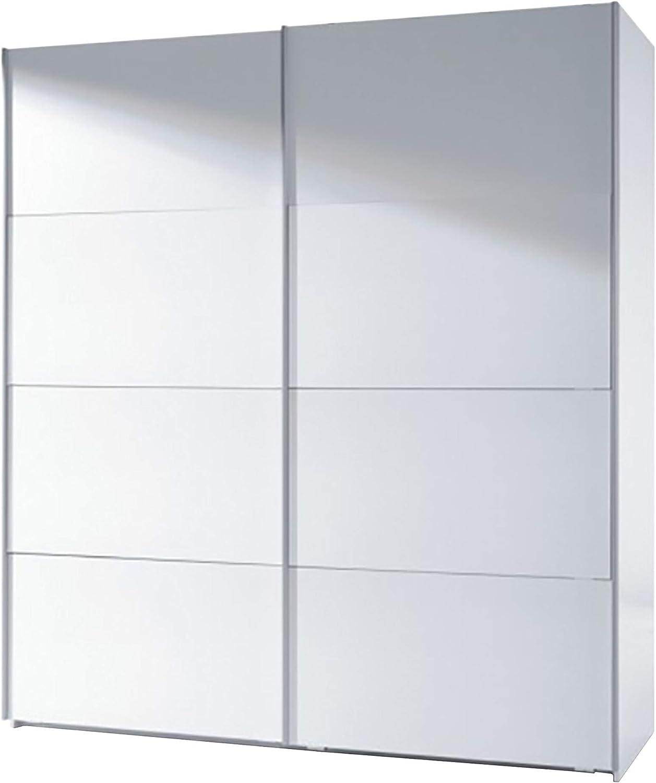 Habitdesign ARC180BO - Armario Dos Puertas correderas, Armario Dormitorio Acabado en Color Blanco Brillo, Medidas: 180 (Largo) x 200 (Alto) x 63 cm (Fondo)