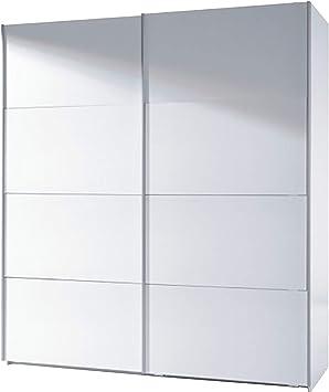 Habitdesign ARC180BO - Armario Dos Puertas correderas, Armario Dormitorio Acabado en Color Blanco Brillo, Medidas: 180 (Largo) x 200 (Alto) x 63 cm (Fondo): Amazon.es: Hogar