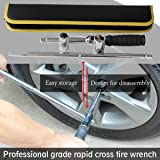 "17"" 4-Way Fast Cross Lug Wrench ,4 Way Lug"