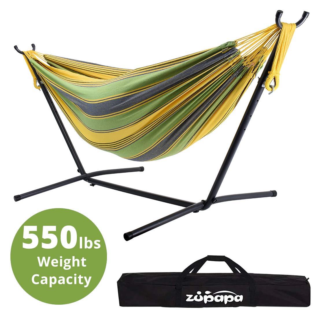 Zupapa Hammock and Stand Set, Heavy Duty Portable Combo for Indoor Bedroom Outdoor Backyard