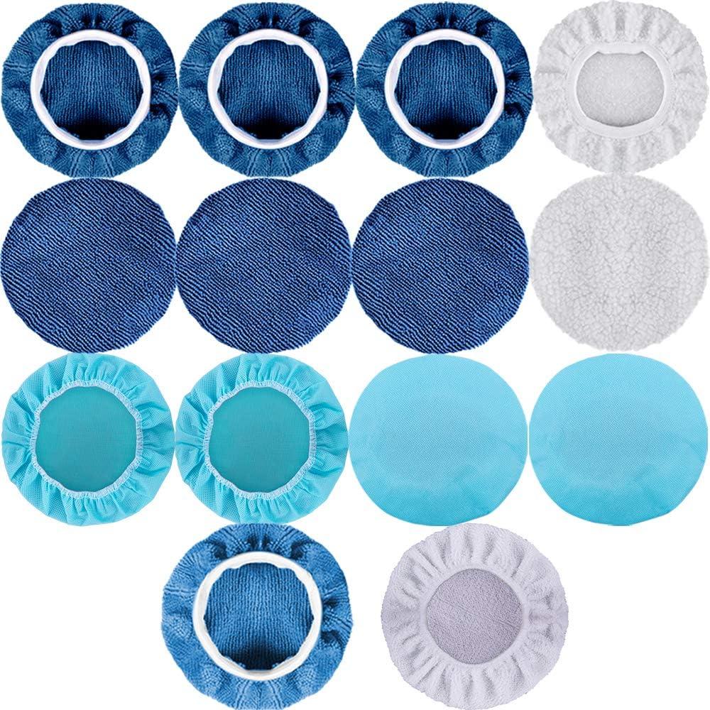 Including 12 Packs Microfiber Car Polishing Bonnet 4 Packs Waxing Bonnet 6 Packs Non-Woven Buffing pad and 2 Packs Cotton Bonnet for Car Polisher 5 to 6 Inches SIQUK 24 Packs Polishing Bonnet Pads
