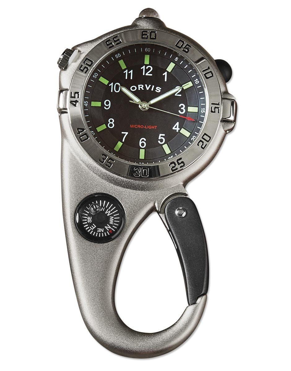 Orvis Ultimate Carabiner Compass Watch, Silver