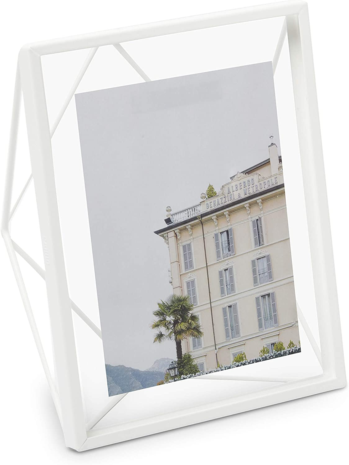 """Umbra, White Prisma 8x10 Picture Frame for Desktop or Wall, Holds One 8""""x10"""" Photo, 8 by 10-Inch"""