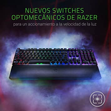 Razer Huntsman Elite - Teclado Gaming, Teclado Rápido, Switches Optomecánicos De Razer, Retroiluminación RGB Chroma, Dial Digital Multifunción, ...