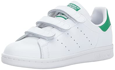 adidas Originals Boys' Stan Smith CF J Sneaker, White, 3.5 M US Big