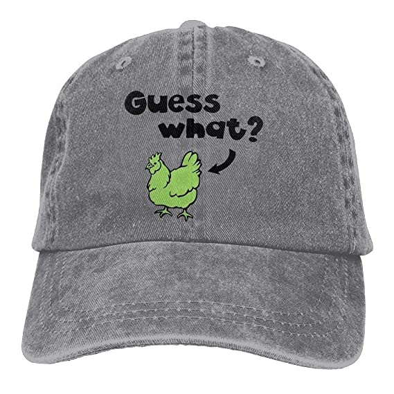 Guess What-Chicken Butt Denim Baseball Caps Hat Adjustable Cotton Sport Strap Cap for Men Women: Amazon.es: Ropa y accesorios